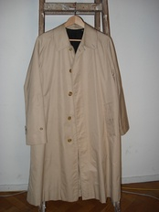 Burberry trench coats were selected for costumes.