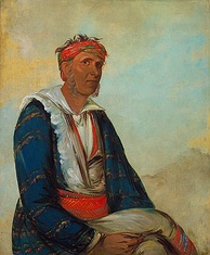Cól-lee, a Band Chief, painted by George Catlin, 1834