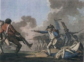 The War in the Vendée was a royalist uprising that was suppressed by the republican forces in 1796.