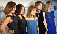 Ana Ortiz, Judy Reyes, Susan Lucci, Rebecca Wisocky, and Mariana Klaveno at event in October 2013