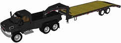 Tandem axle dually pickup truck with gooseneck trailer