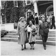 Marshal and Mrs. Phibunsongkhram with Eleanor Roosevelt