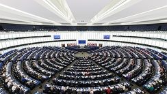 The hemicycle of the European Parliament in Strasbourg