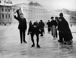 Skating on the Field of Mars in 1914