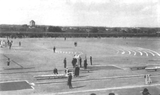 Francis Field during the 1904 Summer Olympics.