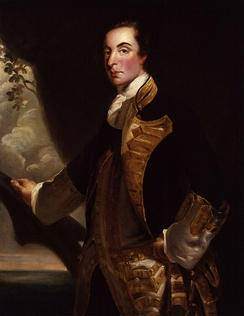 Portrait of Rodney by Joshua Reynolds showing him after his appointment as a rear admiral in 1759.
