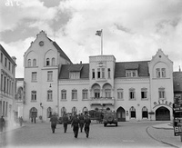 Royal Air Force's Malcolm Club in Schleswig, formerly the Stadt Hamburg Hotel in late 1945.