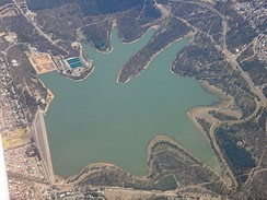 Aerial view of Happy Valley Reservoir in early 2007