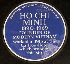 Commemorative plaque in Haymarket in London
