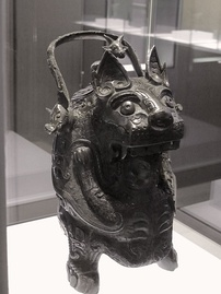 A Shang dynasty bronze vessel to preserve drink