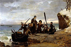 The Landing of the Pilgrims (1877) by Henry A. Bacon