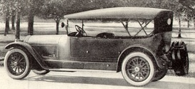Locomobile seven-passenger touring car from a 1920 magazine advertisement