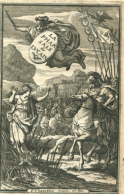 Engraved title page of a French edition of Lucan's Pharsalia, 1657