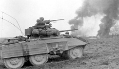 The M8 Greyhound was equipped with a 37 mm gun, three machine guns, and two powerful radios.