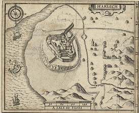 18th Century map of Harlech