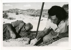 Mary and Louis Leakey at Olduvai Gorge