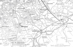 Messines area, 1914