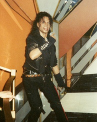 Jackson's Bad era wax figure at Madame Tussauds, London in 1992