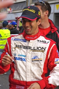 Neel Jani (pictured in 2011) battled Oliver Jarvis early in the race and eventually finished fourth overall.