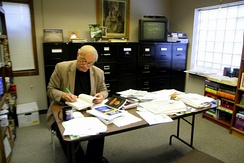 Joe Nickell, Research Fellow at the Committee for Skeptical Inquiry, in office. Amherst, NY 2013