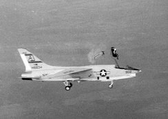 Ejection from a VFP-62 RF-8A in 1963.