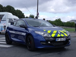 The Mégane R.S. 265 in use of the Gendarmerie National (French National Police)