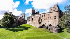St. Michael's Church and Linlithgow Palace from the Peel