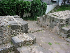 Remains of a Roman town gate from the late 4th century