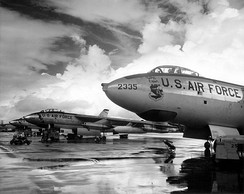 Strategic Air Command B-47 Stratojet bombers, the world's first swept-wing bomber