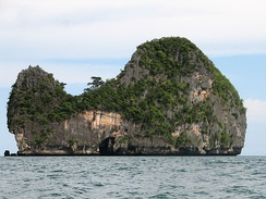 A typical limestone island in Thailand