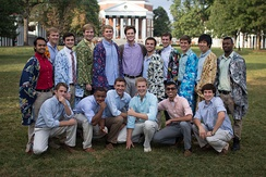 The Hullabahoos, an a cappella group at the University of Virginia, were featured in the movie Pitch Perfect