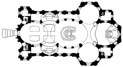 Plan of the Basilika Vierzehnheiligen (1743–1772)