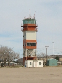 Air Traffic Control Tower at Webb Air Force Base post closure of the base, February, 2002