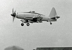 Wyvern TF.2 being demonstrated at the Farnborough Air Show in 1953 by a Westland pilot
