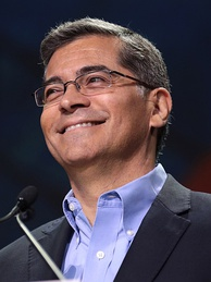 Xavier Becerra speaking to the California Democratic Party State Convention in 2019
