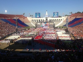 In 2015, the Coliseum hosted ceremonies and concerts for the Special Olympics; here, the closing ceremony.