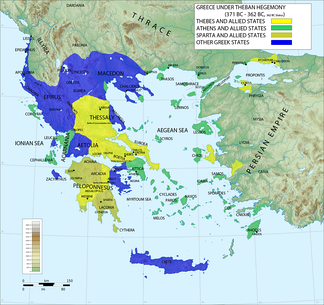 Ancient Greece under the hegemony of Thebes, 371–362 BC