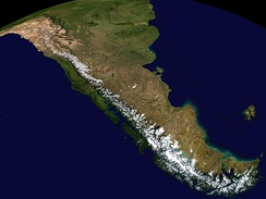 The Andes, the world's longest mountain range on the surface of the Earth, have a dramatic impact on the climate of South America