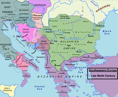 Italy and the Balkans during the late 9th century