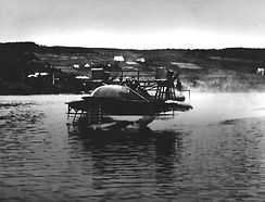 Bell HD-4 on a test run ca. 1919