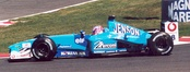Jenson Button moved to the Benetton team because his Williams seat had been taken over by Juan Pablo Montoya.