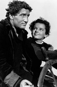Tracy and Freddie Bartholomew in Captains Courageous (1937).