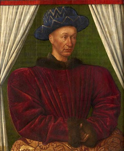"Charles ""the Victorious"" by Jean Fouquet. Louvre, Paris."