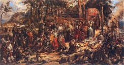 """Christianization of Lithuania in 1387"", oil on canvas by Jan Matejko, 1889, Royal Castle in Warsaw"