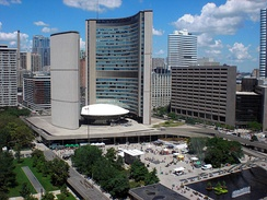 Architecturally renowned Toronto City Hall
