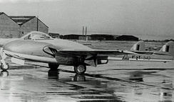 An Iraqi Air Force De Havilland Vampire FB.52, before delivery in 1953