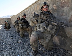10th Mountain Soldiers during an operation in Logar Province.