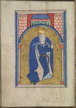 Donor portrait in a 12th-century psalter, thought to depict an older Eleanor.