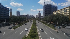 Hexing Road, western part of Harbin's 2nd ring road.