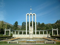The Huguenot Monument of Franschhoek in Western Cape province, South Africa